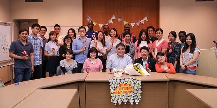 We, Ogawa Seminar Students Cerebrated Professor Ogawa's Birthday