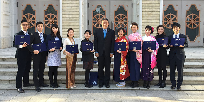 Ten Students from Ogawa-Seminar Receive Master's Degree