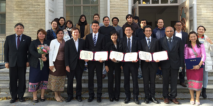 Two Students from Ogawa-Seminar Received Doctor of Philosophy